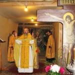 Первая литургия в Храме Д.Солунского